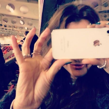 her iPhone