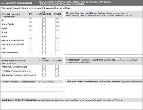 mental capacity assessment form example - Google Search