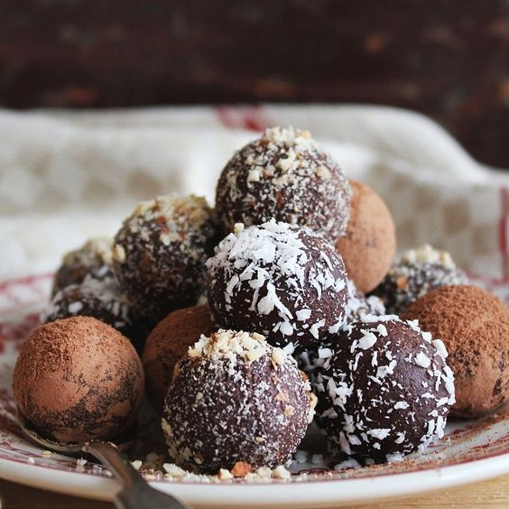 "@chocolategrid's photo: ""- Assorted Chocolate Cake Truffle Balls with Cocoa Powder!  Tag a Chocolate Lover!"""