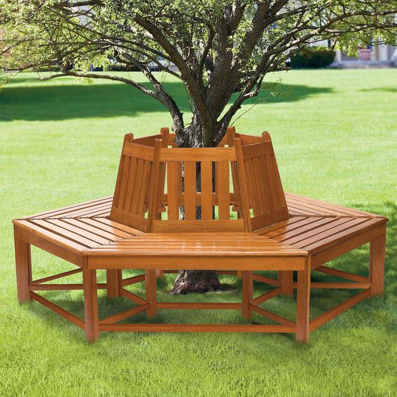 Tree Bench Wooden Tree And Benches On Pinterest