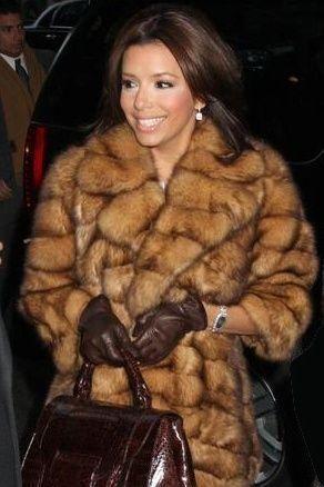 Eva Langoria fur coat