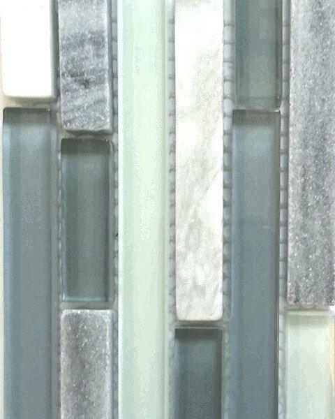 Waterfall Backsplash: In Cool Waterfall-inspired Hues Of Pale Blue & Grey This