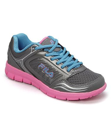 Another great find on #zulily! Dark Silver & Sugar Plum Lap Ahead Running Shoe #zulilyfinds