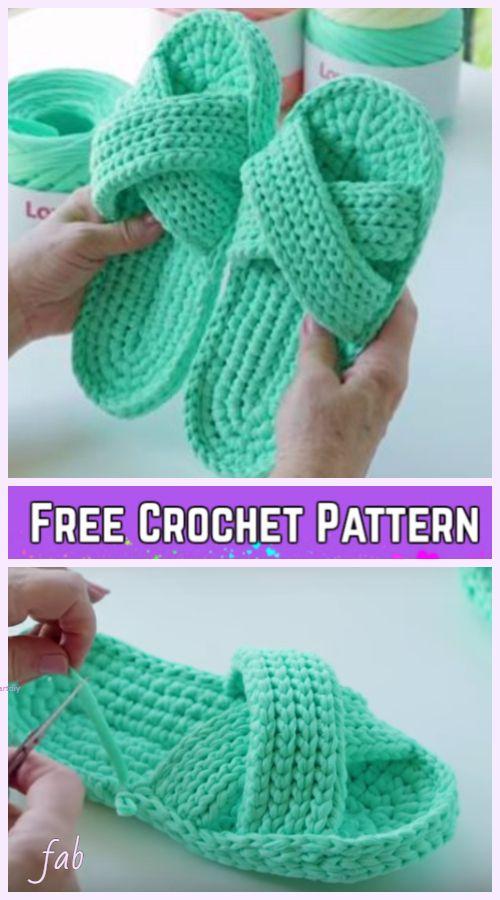 Crochet Criss Cross Spa Slippers Free Crochet Pattern Video