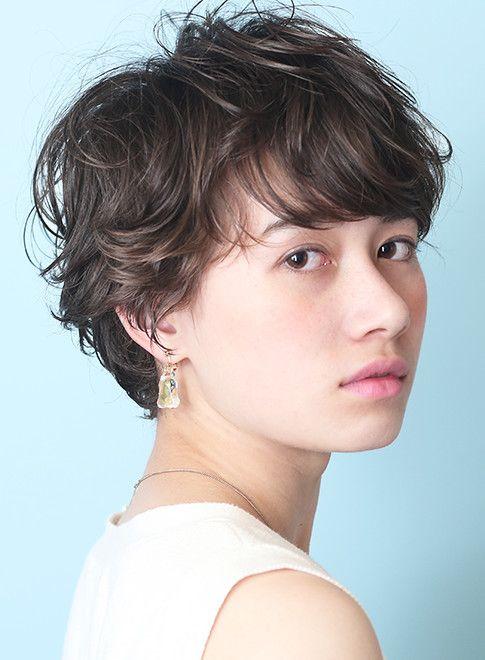 大人可愛い フレンチパーマショート 髪型 ヘアスタイル ヘア