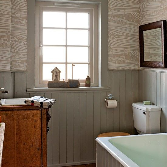 Panelling small bathroom designs and small bathrooms on for Small country bathroom designs