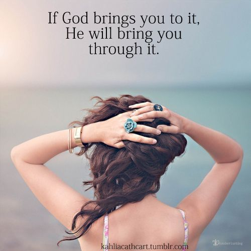 Trials have a purpose. Just trust, thank God anyway and he will be there for you at about the time when you think he won't show up.