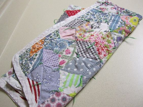RESERVED  Vintage Colorful Star Patchwork Baby by scarlettess