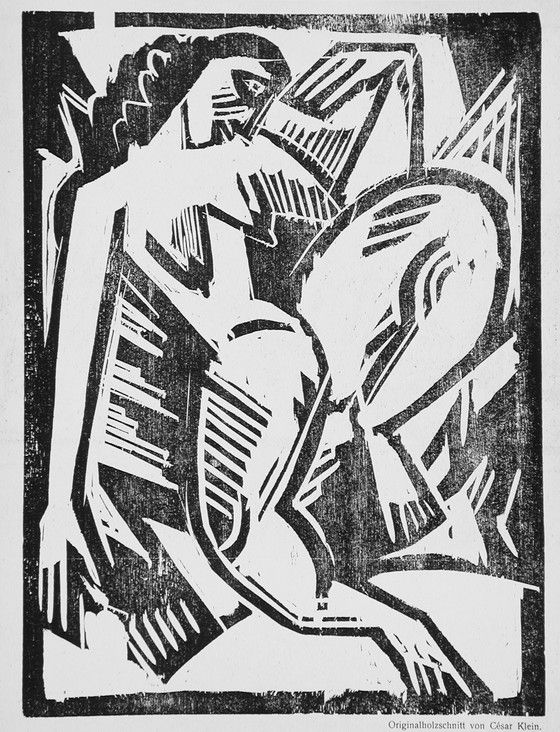 Untitled Descriptive: (nude woman) Volume, number, page: 1, no. 5 (15 Juli 1918) Cesar Carl Robert Andreas Klein (Germany, 1876-1954) Germany, circa 1918 Prints; woodcuts