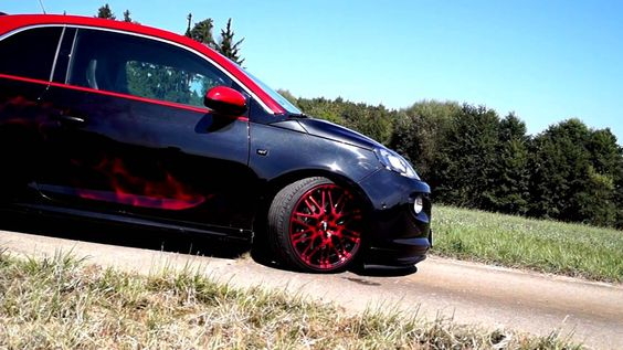 Opel Adam S Airbrush Red Candy Fire Custompaint