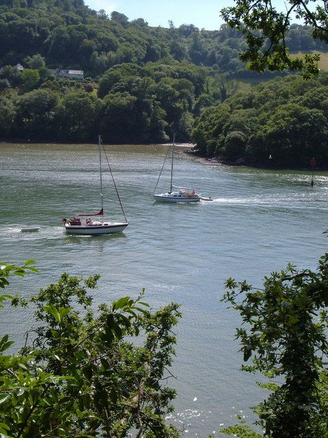 A view of the River Dart from the gardens at Greenway.