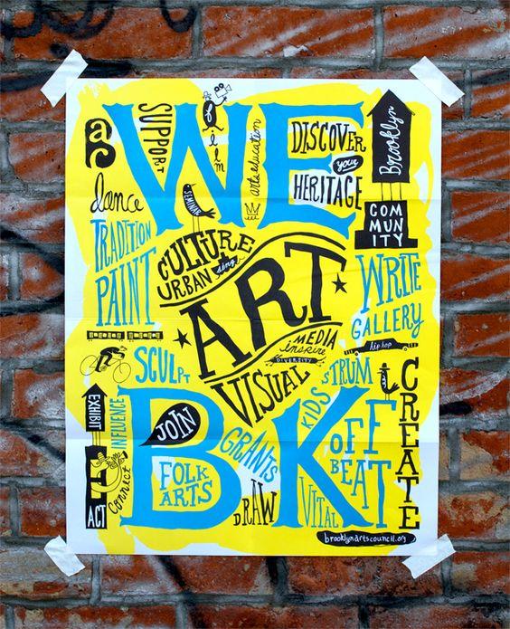 Brooklyn Arts Council brochure by Hyperakt