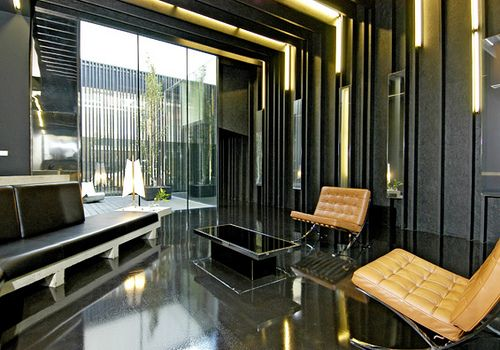 Small lobby design ideas lost house modern for Apartment lobby design