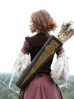 Mittelalter Fantasy Tasche Bogenschütze aus Leder mit Messing