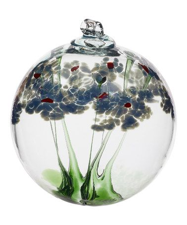 This 6'' Sympathy Blossom Ball Glass Ornament is perfect! #zulilyfinds
