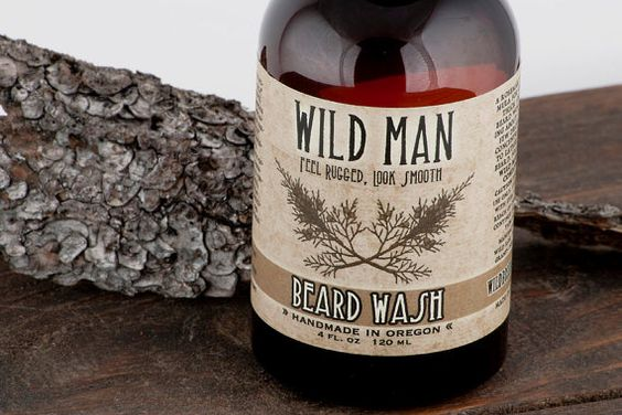 Wild Man Beard Wash 120ml // 4oz  Feel Rugged, Look Smooth    The Original: Woodsy, herbaceous and slightly sweet