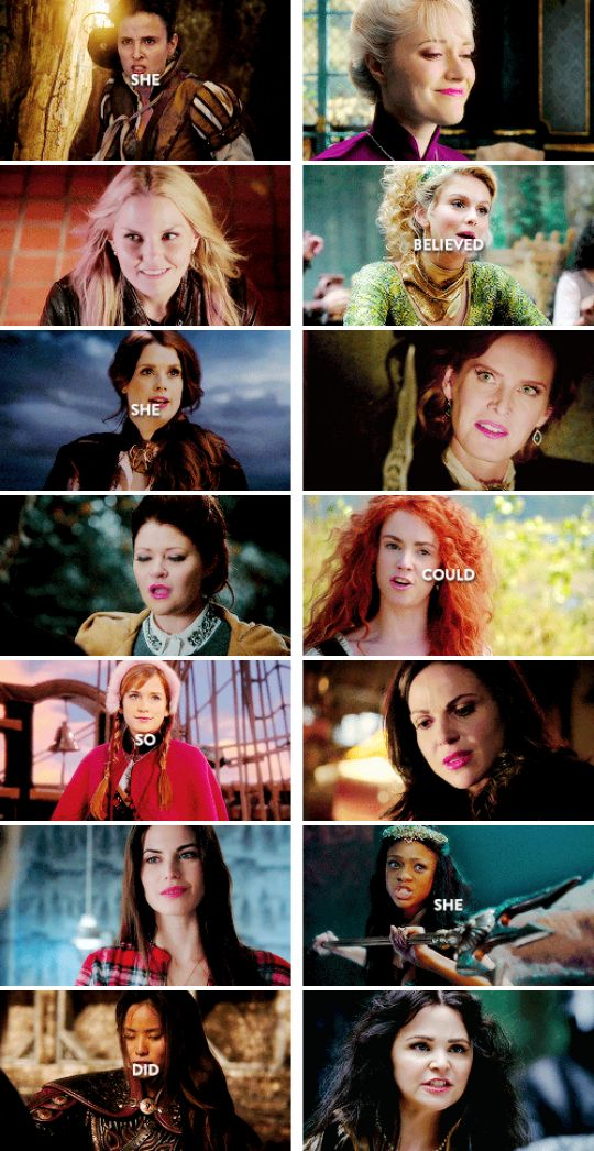 """""""She believed she could, so she did."""" #ouat the ladies"""