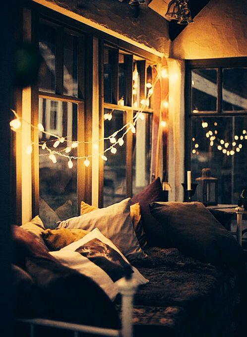 String Lights For Bedroom Window : Hipster bedroom Bedroom Ideas Pinterest String lights, Grey and Window