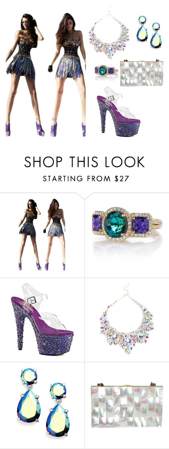 """""""Like a champion"""" by mehrak ❤ liked on Polyvore featuring Sherri Hill, Erica Courtney, Pleaser and Kate Spade"""