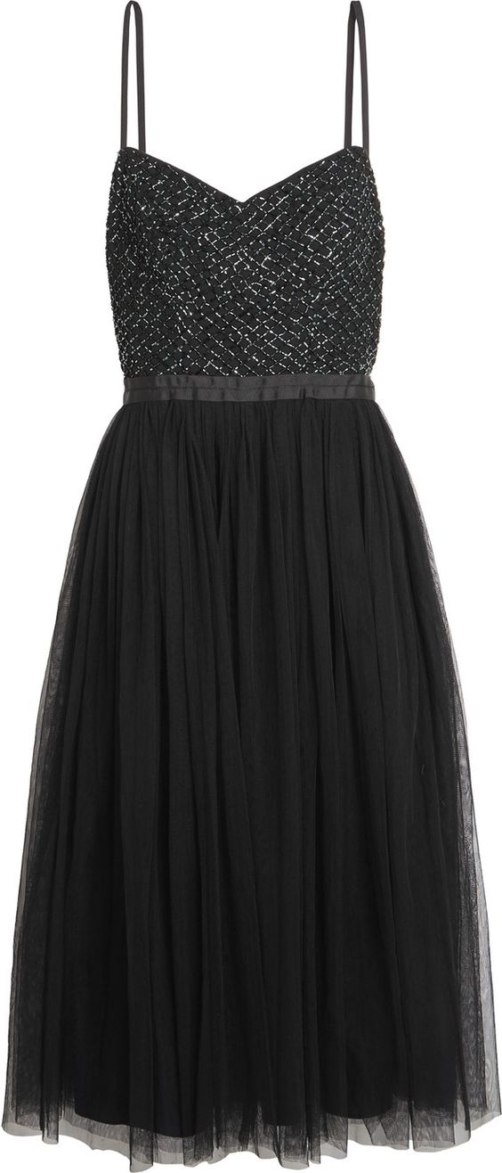 The Outnet Coppelia bead-embellished pleated tulle dress