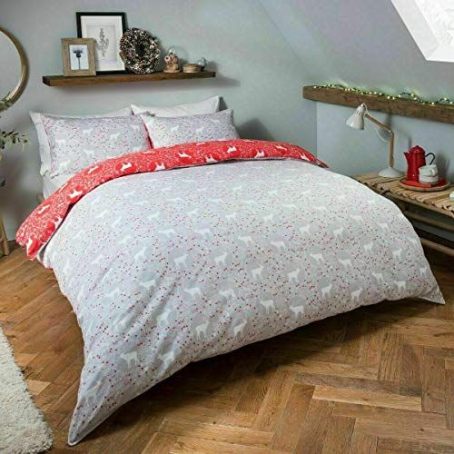 Maass Flannel Flannelette Disty Winter Duvet Cover Set With Pillow Cases 100 Brushed Cotton Double Duvet Cover Sets Beautiful Duvet Cover Flannel Duvet Cover