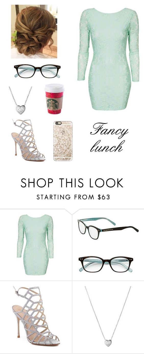 """(Blue) Fancy lunch🍡"" by cait0316 ❤ liked on Polyvore featuring Kate Spade, Schutz, Links of London and Casetify"