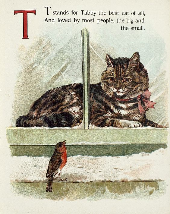 "Letter ""T"" (from ""Cats and kittens ABC"", Father Tuck's Nursery Tales series, 1890s)"