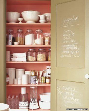 inside the pantry door!