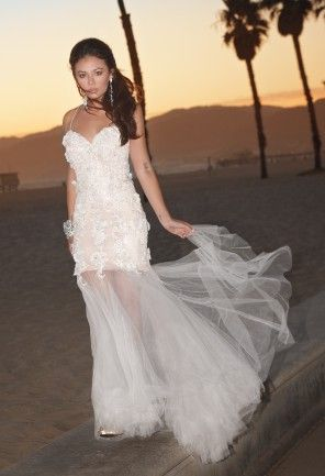 Tulle Prom Dress with 3D Flowers from Camille La Vie and Group USA modeled by Janel Parrish from Pretty Little Liars