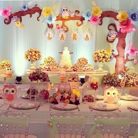 Festa linda com tema Corujinhas por @lacarotefestasafazer  #kikidsparty