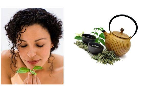 Black Tea Massage to darken grey hair