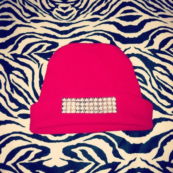 Block Studded Beanie. $15.00, via Etsy.