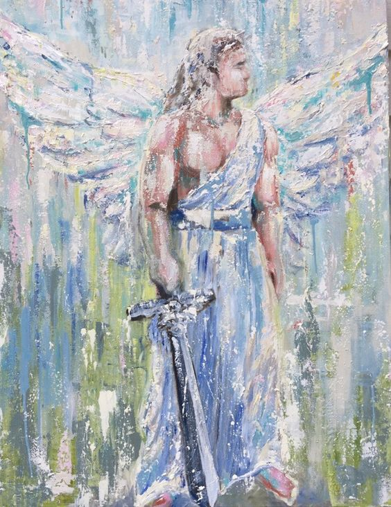 Angels - Unseen Protector Canvas Giclee
