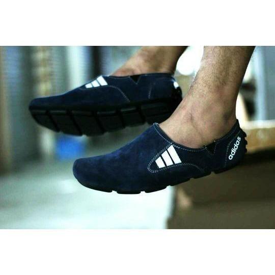 Sepatu Casual Slop Pria Trendy Kulit Suede Best Seller Sepatu