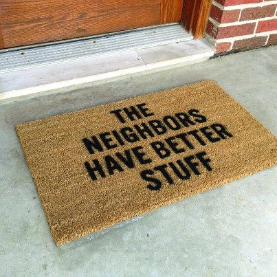 This doormat keeps your entrance clean and doubles as a burglar deterrent!