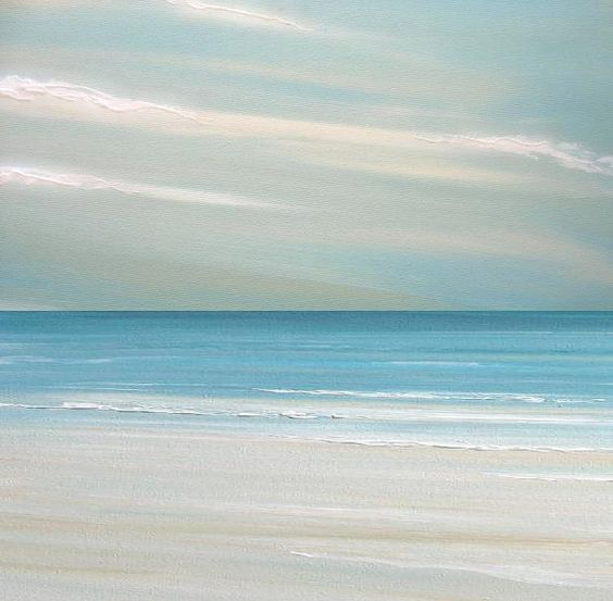 Beach ocean painting art print seascape painting by FradetFineArt, $40.00