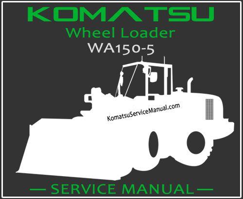 Komatsu Wa150 5 Wheel Loader Service Manual Pdf Komatsu Repair Manuals Manual