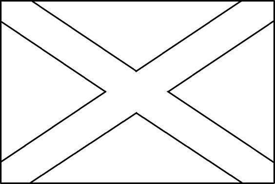 Coloring Picture Of Scotland Flag Scotland Pinterest Scotland Flag Coloring Page