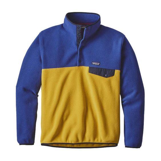 Patagonia Men\'s Lightweight Synchilla\u00AE Snap-T\u00AE Fleece Pullover - Sulphur Yellow SULY
