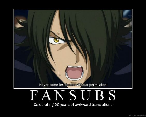 Survey: For those who watch anime fansubs?