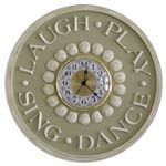 Laugh -Play- Sing- Dance Wall Clock