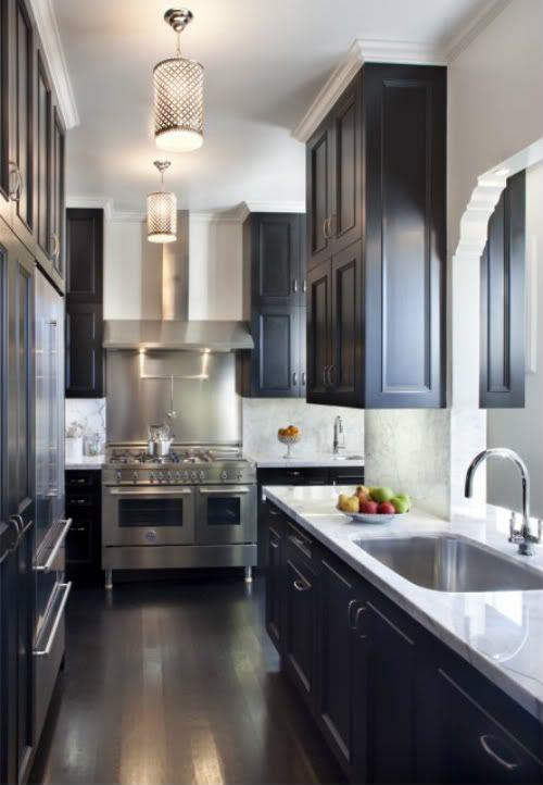 narrow galley kitchen