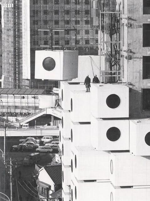 Nakagin Capsule Tower (1972) by Kisho Kurokawa.viahereandhere