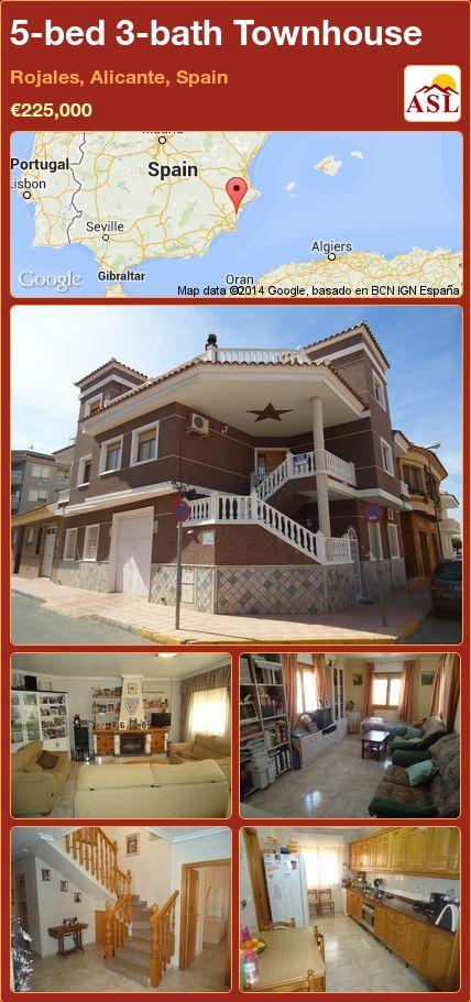 5-bed 3-bath Townhouse in Rojales, Alicante, Spain ►€225,000 #PropertyForSaleInSpain