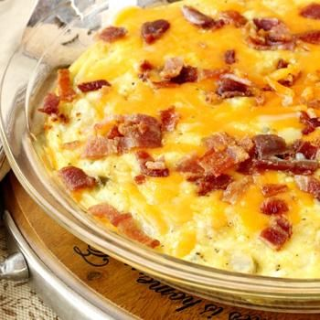 Baked Potato Bacon Egg Breakfast Skillet | Recipe ...