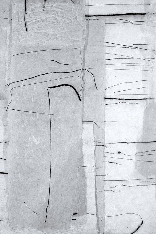 Jennifer Davies   Dishable (detail; BW)   handmade paper + yarn