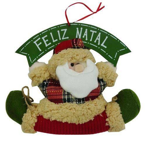 Foto 1 Enfeite De Porta Papai Noel Feliz Natal 33cm Niazitex