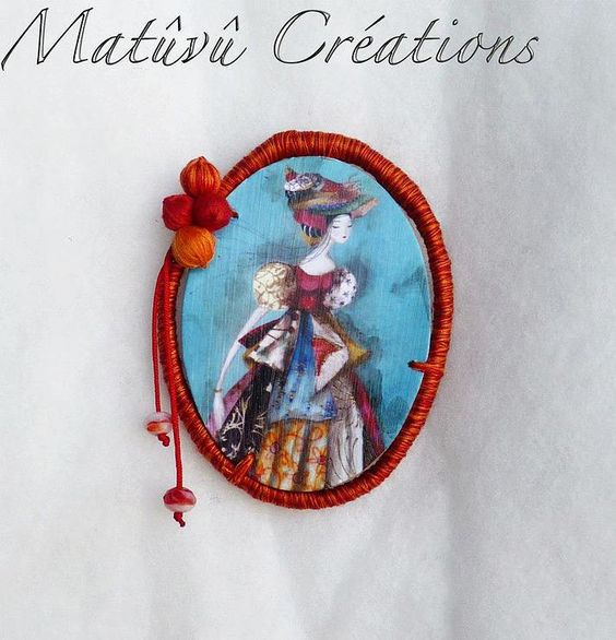 Broche Catherine Rebeyre / Delfine Hova Matuvu creation