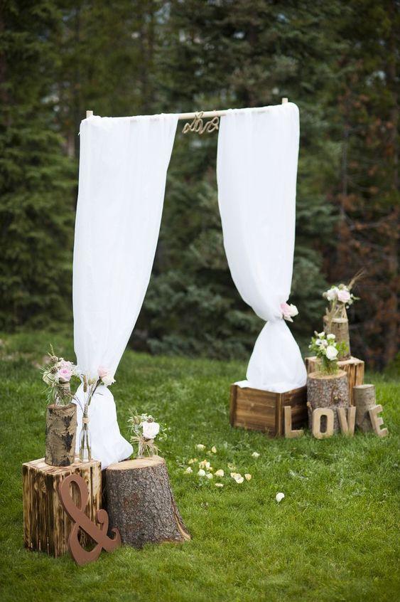 103 id es de d co mariage champ tre atmosph re naturelle pinterest mariage cerf et fleur Idees deco mariage champetre