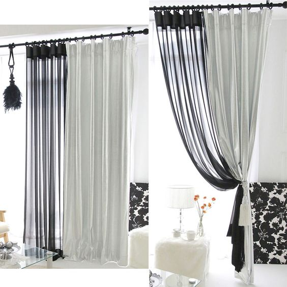 Details about Handmade Fab Silver Shimmery Curtain Metallic ...
